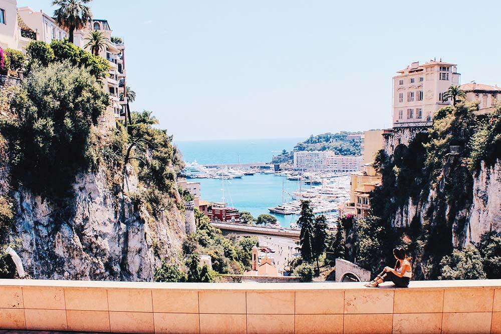 Uitzicht over Monaco