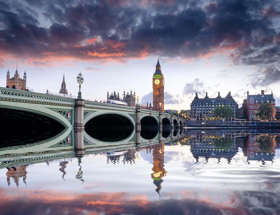 Westminster Bridge en Big Ben in Londen